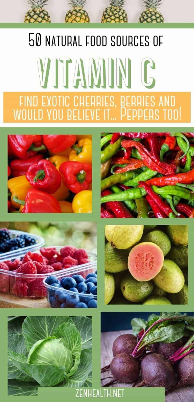 50 natural food sources of vitamin c: find exotic cherries, berries, and peppers
