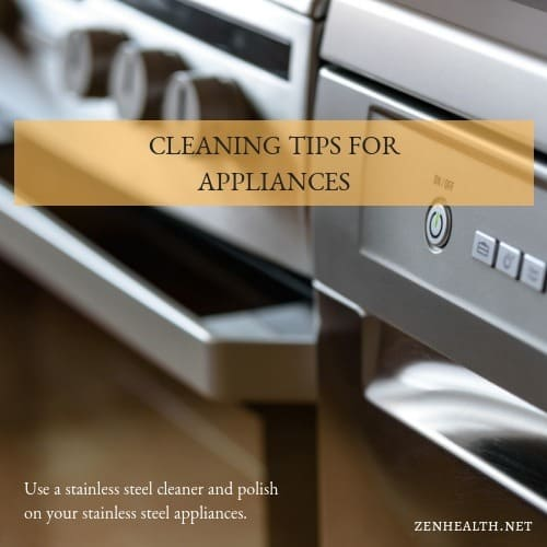 Cleaning Tips for Appliances