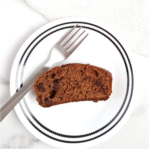 Slice of Banana Chocolate Chip Bread