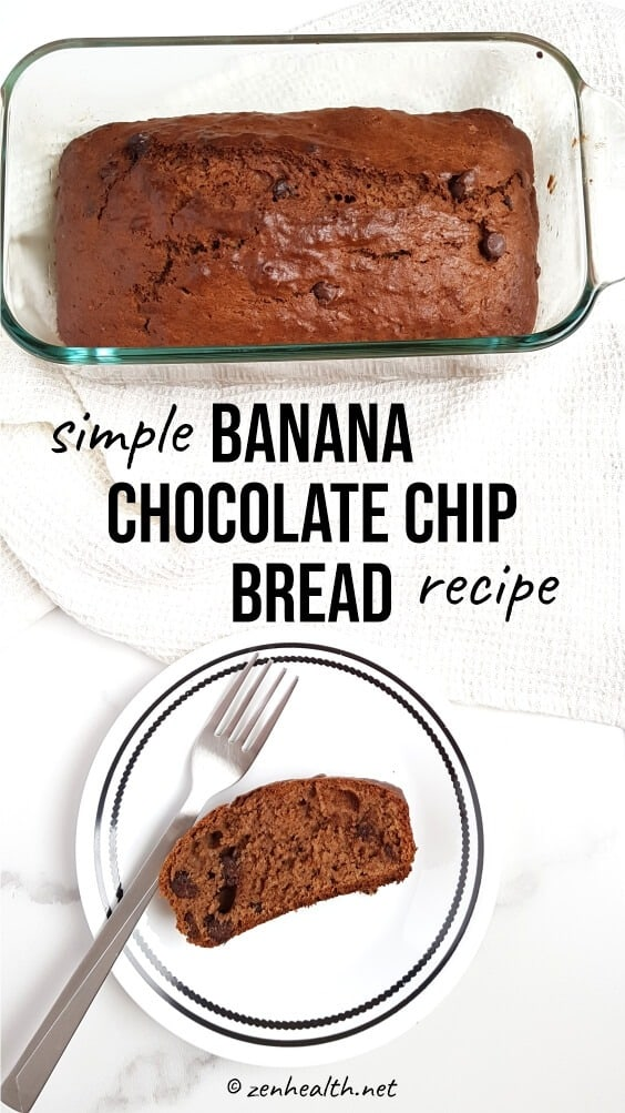 Simple Banana Chocolate Chip Bread Recipe #bananabread #bananachocolatechipbreadrecipe