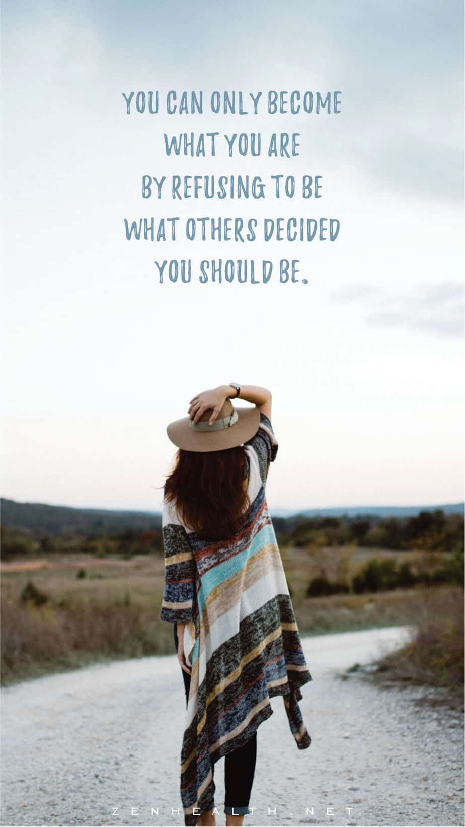 Self confidence quotes: You can only become what you are by refusing to be what others decided you should be.