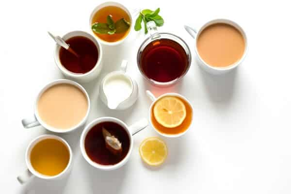 Water and tea can reduce stress