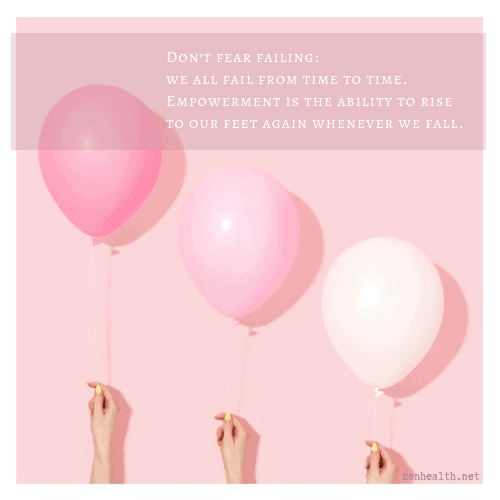 Empowerment quotes - Don't fear failing: we all fail from time to time. Empowerment is the ability to rise to our feet again whenever we fall.