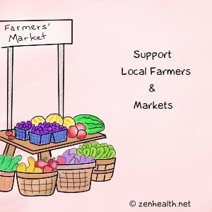 Reduce Food Waste: Support farmers' markets