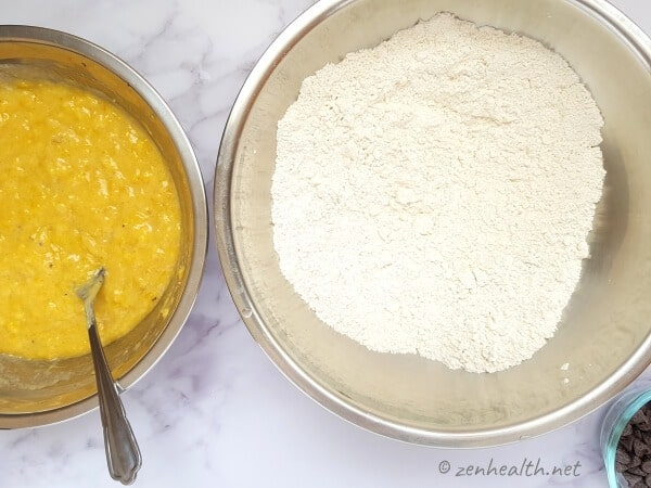 Flour and plantain mixtures