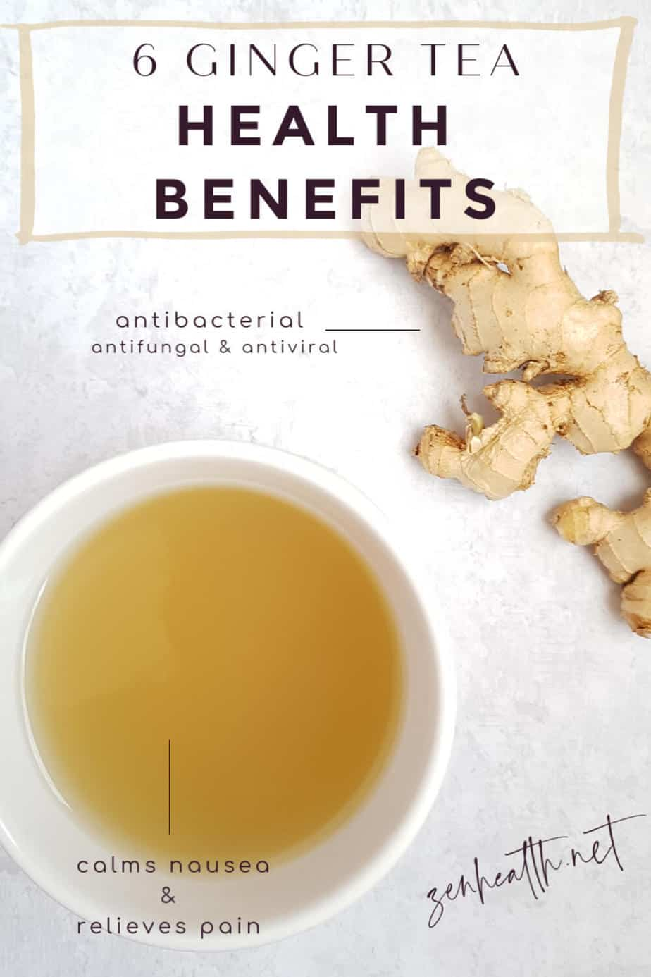 6 Ginger Tea Health Benefits that are proven #gingertea #gingerteabenefits #gingerbenefits #benefitsofginger