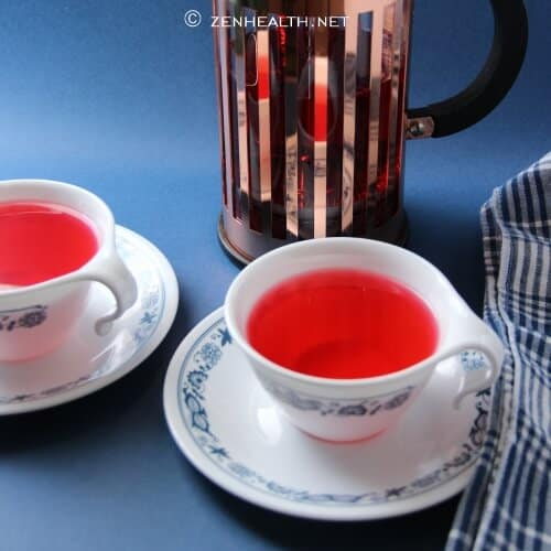 Hibiscus tea recipe (in french press)