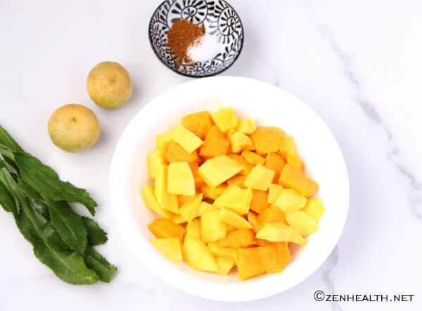Mango chow ingredients
