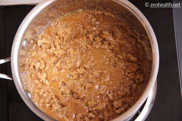 Melting sugar for browning sauce