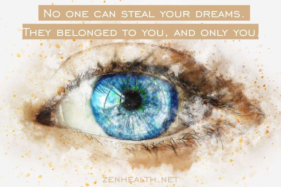 No one can steal your dreams. They belonged to you, and only you.