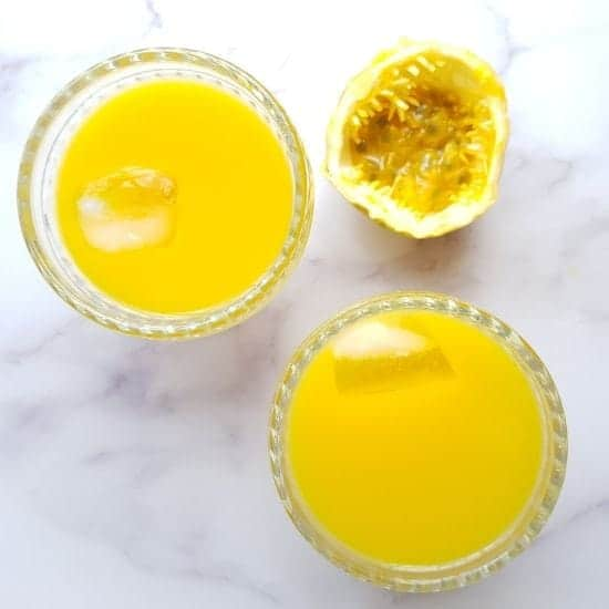 Passion fruit juice and passion fruit