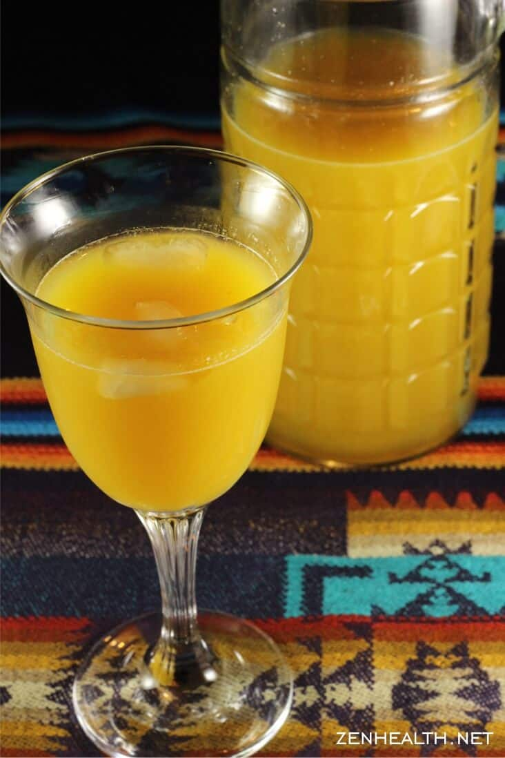 Passion fruit juice with jug