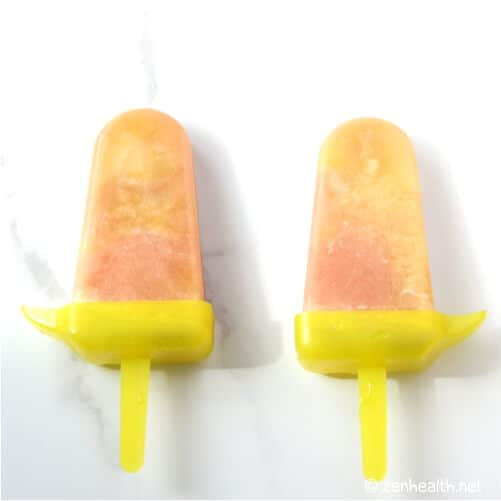 passion fruit popsicle with guava