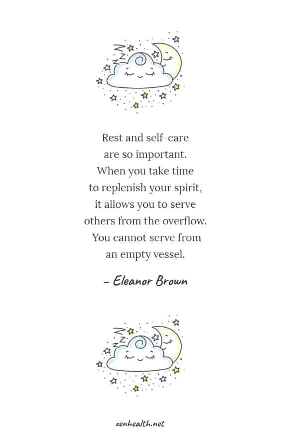 Rest and self-care are so important. When you take time to replenish your spirit, it allows you to serve others from the overflow. You cannot serve from an empty vessel - Eleanor Brown #selfcare #selfcarequotes