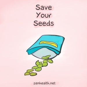 Save your seeds to reduce waste