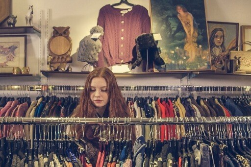 Shop second hand to reduce fast fashion