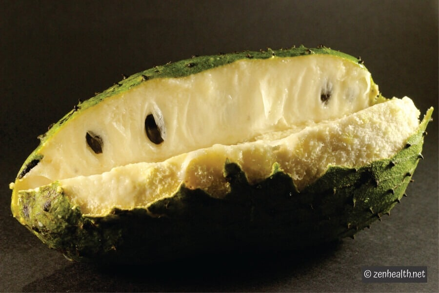 Peeled soursop fruit