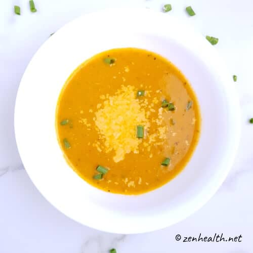 Homemade tomato basil soup (featured image)