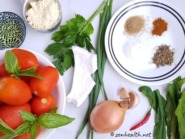 Ingredients for homemade tomato basil soup #tomatobasilsoup