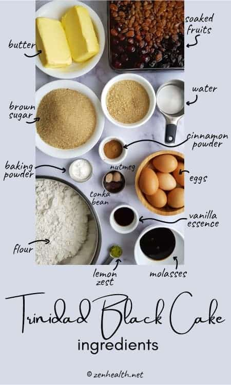 Trinidad black cake ingredients