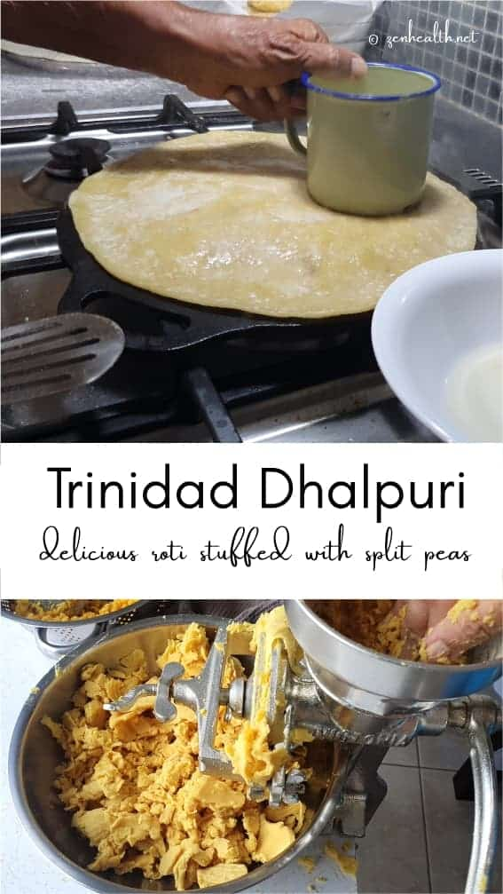 Authentic trinidad dhalpur roti