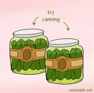 Try canning to preserve food and reduce waste